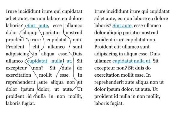 Justowanie tekstu wąskiej kolumny