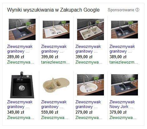 Google Merchant Center - przykład reklamy