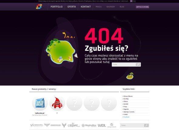 Strona 404 w witrynie agencji interaktywnej