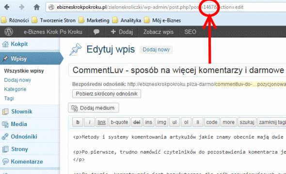 Gdzie znaleźć ID strony w wordpressie