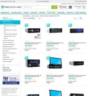 Strona główna z produktami