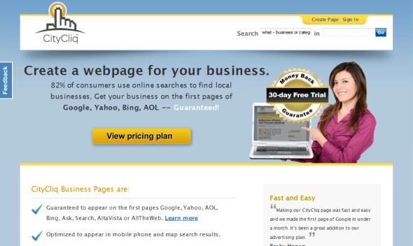 """Nagłówek """"Stwórz stronę internetową dla swojego biznesu"""""""