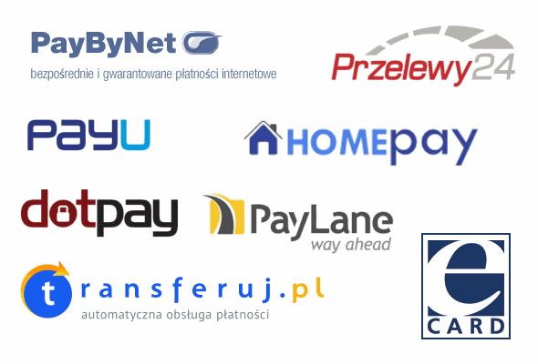 loga systemów płatności internetowych