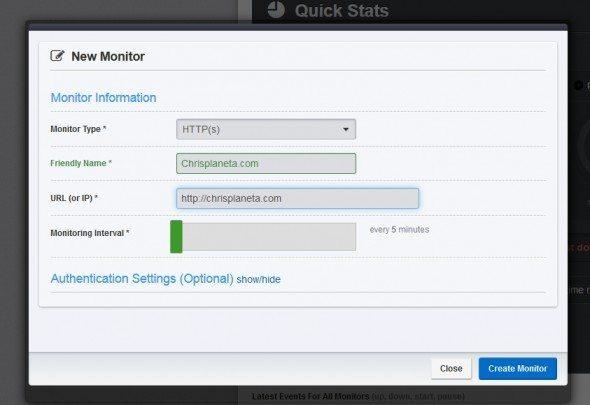 Dodawanie monitoringu strony