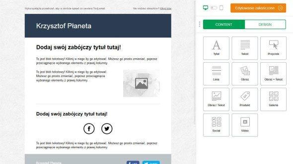 Mailer lite - tworzenie emaila HTML