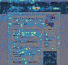 Mapa cieplna zbudowana na podstawie ruchu 350 użytkowników na E-biznes Krok Po Kroku